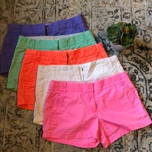 Set of 5 J Crew Shorts